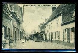 CPA  WERVICQ SUD  RUE DE FRANCE  ARRET DU TRAM     W28 - France