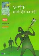 """Carte Postale Double """"Cart'Com"""" (1999) - MTV Europe Music Awards 99 - Vote Maintenant ! - Publicité"""