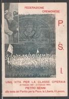 PSI Cremona 1951 - Pietro Nenni - Auguri 60° Compleanno                (g5613) - Eventi