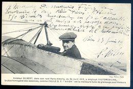 Cpa Aviateur Gilbert Dans Son Raid Paris Vittoria A Employé Automobiline   CC2 - Aviateurs