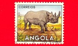 ANGOLA - Usato - 1953 - Fauna Africana - Animali - Rinoceronte - 2 - Angola
