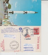 1965 Gemini In To The Space The Time Postcard Posted From Space Center To Bermuda & Return To USA (A-2300-special-1) - Bermuda