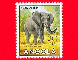 ANGOLA - Usato - 1953 - Fauna Africana - Animali - Elefante (Loxodonta Africana) - 20 - Angola