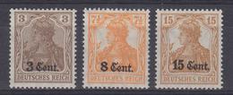 Dt.Bes.1.WK Etappe West MiNr. 1, 3a + 5 ** - Occupation 1914-18