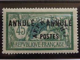 45c Merson * ANNULE / Préo + Bien Centré / TB - Merson 143 - 1900-27 Merson