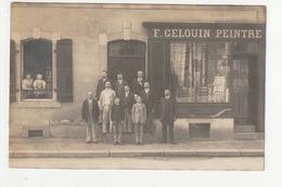 CARTE PHOTO - FOUGERES - COMMERCE - PEINTRE - F. GELOUIN - 16 RUE ALEXANDRE 3 - 35 - Fougeres