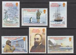 2002 British Antarctic Territory Scottish Antarctic Expedition Penguin Kilt Piper Ships Complete Set Of 6 MNH - Ungebraucht
