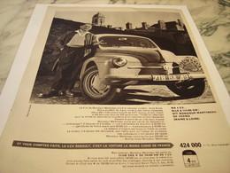 ANCIENNE   PUBLICITE VOITURE 4 CV  RENAULT 1959 - Coches