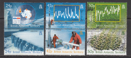 2004 British Antarctic Territory Climate Change Environment Map  Complete Set Of 6 (in Pairs) MNH - Ungebraucht