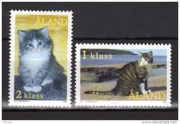 Aland 2003 N°217/218 Neufs Chats - Aland