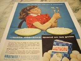 ANCIENNE PUBLICITE ON DIRAIT LES MEME ET POURTANT PATE  LUSTUCRU 1959 - Afiches