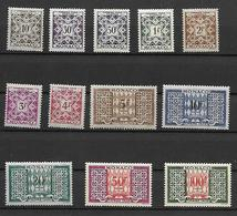 MONACO -TAXE - SUPERBE SERIE DE 12 TIMBRES NEUFS * * DU N° 29 AU 39 AVEC LE N° 39A - DE 1946-57 - Taxe