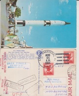 1965 Gemini In To The Space The Time Postcard Posted From Space Center To Madagascar & Return To USA (A-2300-special-1) - Madagaskar (1960-...)