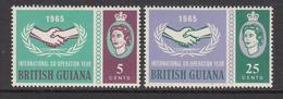 1965 British Guinea  ICY Cooperation Complete Set Of 2 MNH - Guyane Britannique (...-1966)