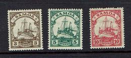 GERMANY...Samoa...Scott #70-72 - Colonie: Samoa