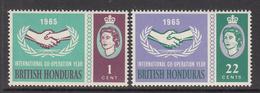 1965 British Honduras  ICY Cooperation Complete Set Of 2 MNH - British Honduras (...-1970)