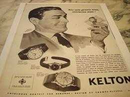 ANCIENNE PUBLICITE GARANTIE TOTAL  MONTRE KELTON  1959 - Joyas & Relojería