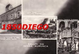 SALUTI DA SESSA AURUNCA - MULTIVEDUTE F/GRANDE VIAGGIATA 1956 ANIMAZIONE - Caserta