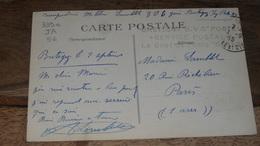 Guerre 14-18 : Cachet De BRETIGNY GVC Poste, Service Postal    …... … PHI.......2409b - Marcophilie (Lettres)