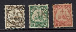 GERMANY...Samoa...Scott #57-59 - Kolonie: Samoa