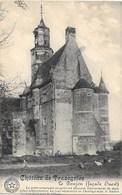 Trazegnies NA94: Château. Le Donjon Façade Ouest 1919 - Courcelles