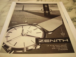 ANCIENNE PUBLICITE HEURE ET L ELEGANCE  MONTRE ZENITH  1959 - Joyas & Relojería