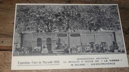 Carte Moulin A Huile LA VIERGE, M RICARD A AIX EN PROVENCE    …... … PHI.......2412 - Publicité