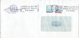 """Yugoslavia Belgrade Letter 1991 Slogan / Flame ,,NEDELJA BORBE PROTIV RAKA"""" Cancer. Red Cross - 1945-1992 Repubblica Socialista Federale Di Jugoslavia"""