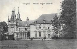 Trazegnies NA96: Château. Façade Principale 1914 - Courcelles