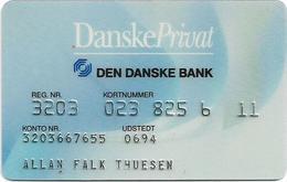 Old Danish Den Danske Bank Magnetic Card - Geldkarten (Ablauf Min. 10 Jahre)