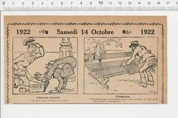 2 Scans Humour 1922 Homme-serpent Contortionniste Et Cireur De Chaussures Cancre élève école Curiosité 213/5A - Vieux Papiers