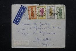 CONGO BELGE - Enveloppe De Matadi Pour Bruxelles En 1952 , Affranchissement Plaisant - L 27451 - 1947-60: Lettres