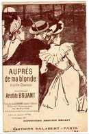 Partition - Auprès De Ma Blonde - Vieille Chanson Recueillie Par Aristide Bruant - Spartiti