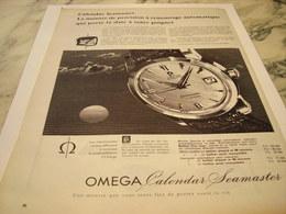 ANCIENNE PUBLICITE CALENDAR SEAMASTER  MONTRE OMEGA 1959 - Joyas & Relojería