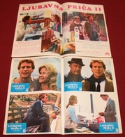 Ryan O'Neal OLIVER'S STORY Candice Bergen 2x Yugoslavian Lobby Cards - Photographs