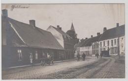 Gheluwe Geluwe  Wervik  FOTOKAART Van Een Centrumstraat Tijdens De Eerste Wereldoorlog - Wervik