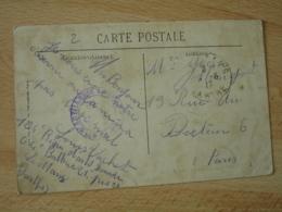 104 Regiment Artillerie Lourde Le Mans  Cachet Franchise Postale Guerre 14.18 - Marcophilie (Lettres)