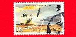 Isola Di MAN - Usato - 1983 - Uccelli - Airone Cenerino (Ardea Cinerea), Mare Di Wadden Vicino A Douglas 12 - Isola Di Man