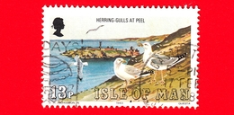 Isola Di MAN - Usato - 1983 - Uccelli - Gabbiano - European Herring Gull - 13 - Isola Di Man