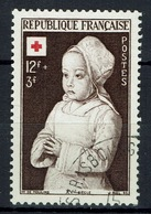 France, Red Cross, Painting By Jean Hey, Early Netherlandish Painter, 1951, VFU  Nice Postmark - Francia