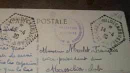 Cachet CUIRASSE WALDECK ROUSSEL 1930    …... … PHI.......2430 - Marcophilie (Lettres)