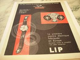 ANCIENNE PUBLICITE  UNE LIP ELECTRONIC  1959 - Bijoux & Horlogerie