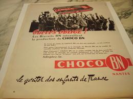ANCIENNE PUBLICITE SUCCES OBLIGE  CHOCO BN 1959 - Affiches
