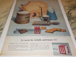 ANCIENNE PUBLICITE LE SECRET DU VERITABLE PETIT BEURRE LU 1959 - Afiches
