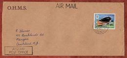 Luftpost, Oliva Sericea, Aitutaki Cook Islands Nach Auckland 1980 (71836) - Aitutaki
