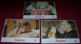 Silvia Tortosa LA SENYORA Hermann Bonnin 3x Yugoslavian Lobby Cards - Foto's