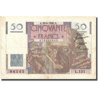 France, 50 Francs, Le Verrier, 1950, 1950-06-29, TTB, Fayette:20.15, KM:127c - 50 F 1946-1951 ''Le Verrier''