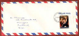 Luftpost, Weihnachten, Rarotonga Cook Islands Nach Auckland 1977 (71839) - Cookinseln