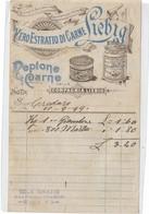 LOTTO DI 4 PUBBLICITA' LIEBIG VERO ESTRATTO DI CARNE NOTE DI PAGAMENTO 1899-1901- 8 SCANNER 28846-47-48-49-50-51-52-53 - Advertising