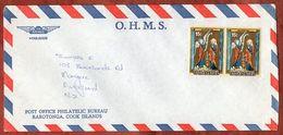 Luftpost, Weihnachten, Nicht Entwertet, Rarotonga Cook Islands Nach Auckland 1980? (71840) - Cookinseln